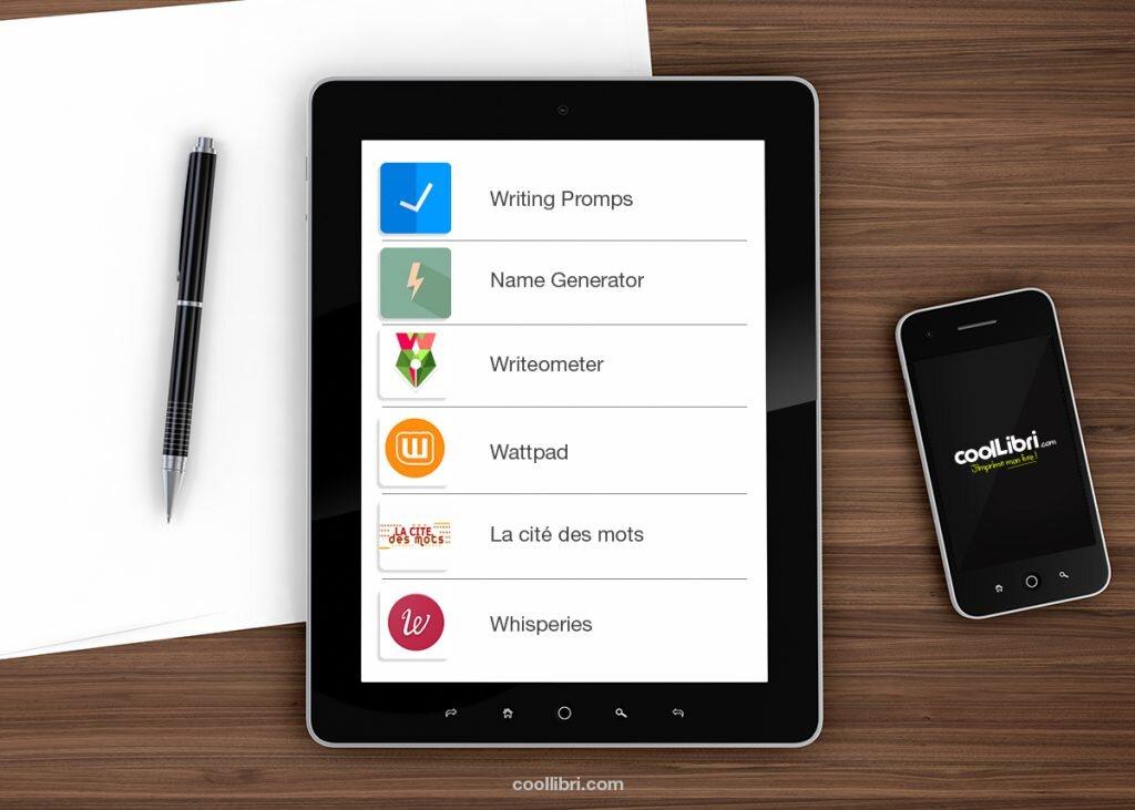 les meilleures applications pour  u00e9crire un livre sur smartphone et tablette