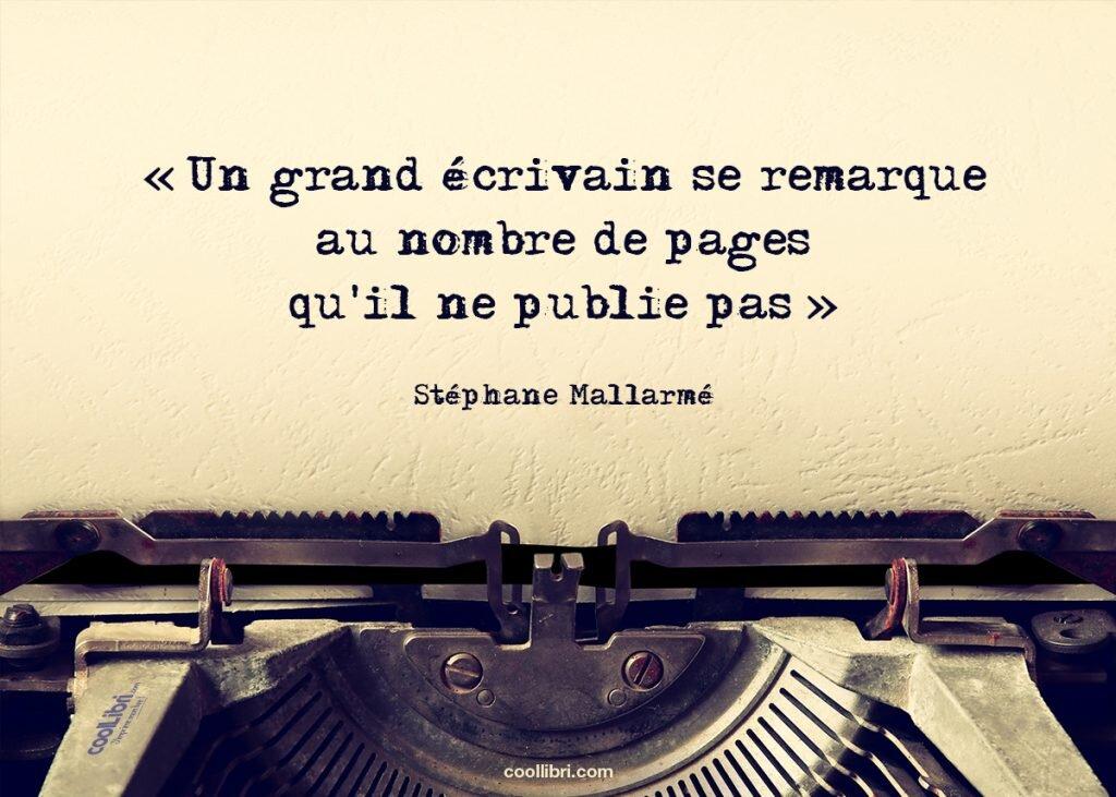 Édition à compte d'auteur citation Stéphane Mallarmé