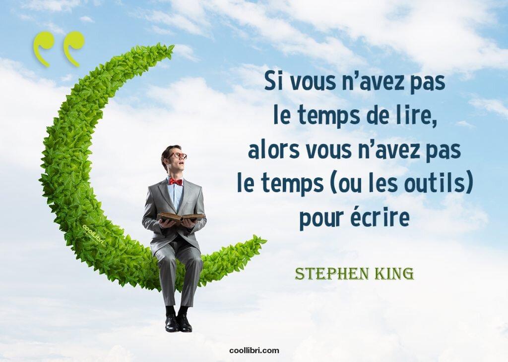 écrire un livre, citation Stephen King