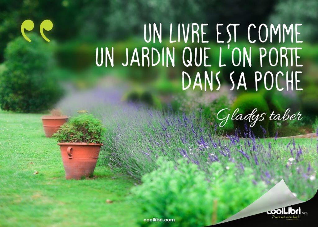 citation Gladys Taber, un livre comme un jardin que l'on porte dans sa poche