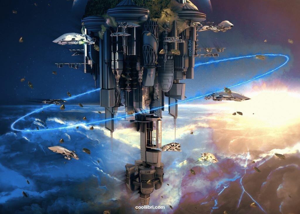 livre de science fiction dans une autre galaxie