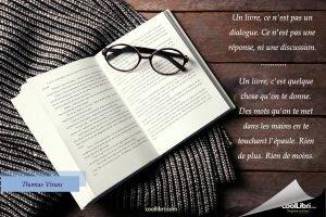 Un livre, c'est quelque chose qu'on te donne.