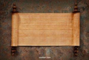 rouleaux de papyrus.